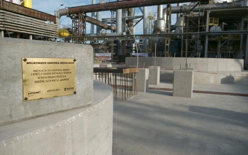 A spectacular investment in clean air in Lower Silesia. KGHM is constructing the Gas Treatment Plant at the Legnica Copper Smelter and Refinery