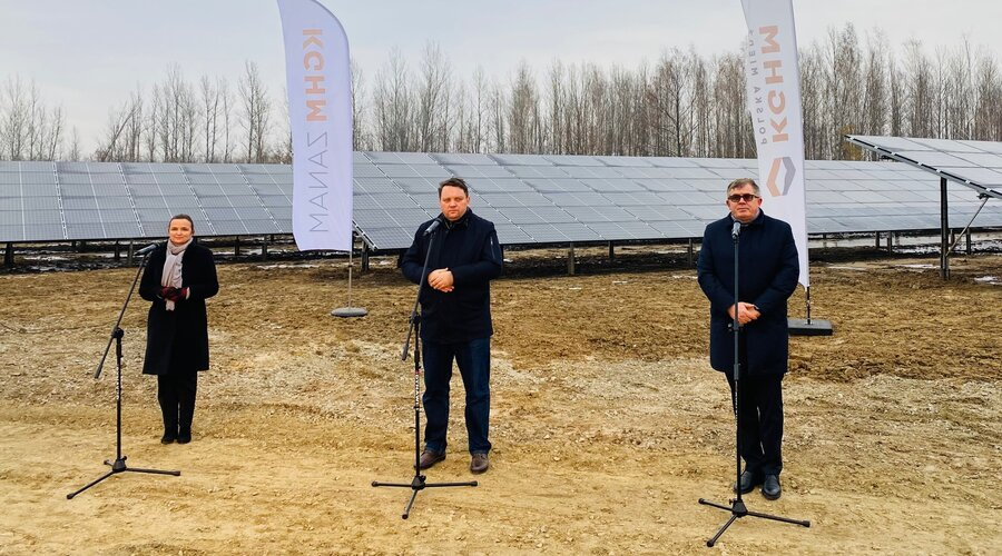 Clean energy in KGHM. The first photovoltaic power plant in 4.0 technology has been launched in Poland
