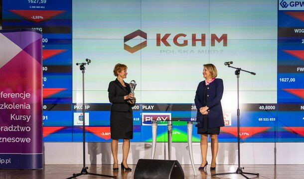 KGHM con el premio The Best Of The Best por el informe anual