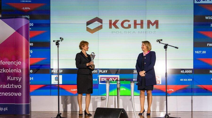 KGHM con el premio The Best Of The Best por el informe anual