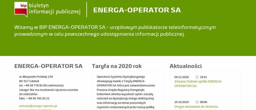 Energa-Operator z nowym BIP