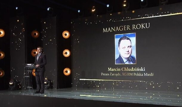"""President of KGHM Marcin Chludziński """"Manager of the Year"""" in the Leaders of the Energy World competition"""