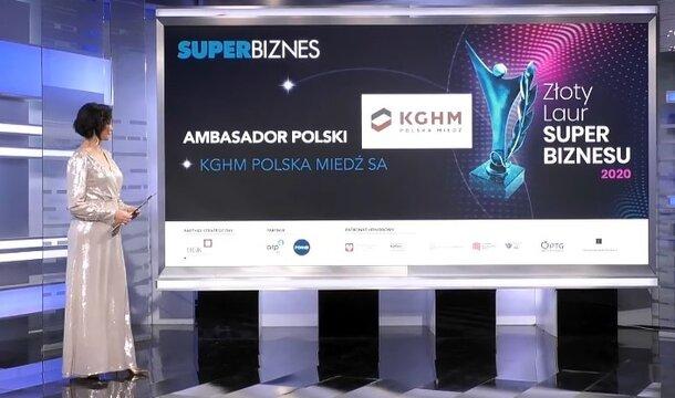 """Golden Laurel of """"Super Biznes"""" 2020 in the category """"Ambassador of Poland"""""""