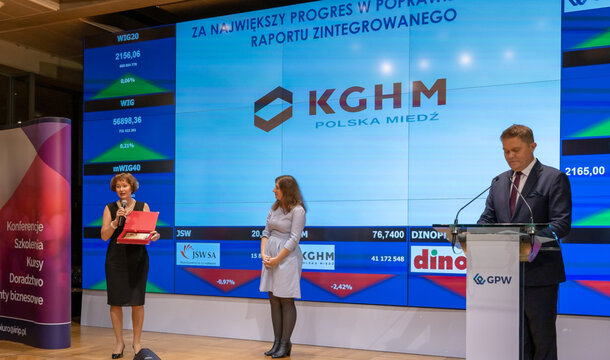Annual report of KGHM with 'The Best Of The Best' award