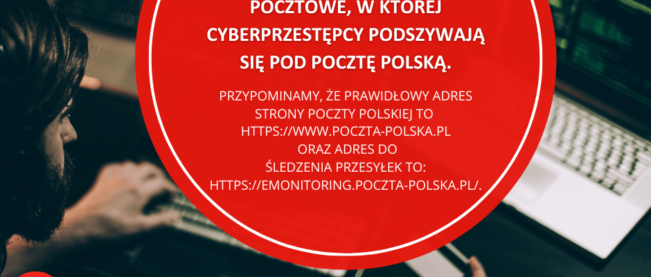 Poczta Polska: uwaga na fałszywe maile o niedostarczeniu przesyłki