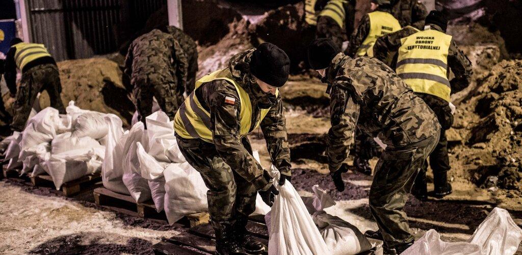 Działania WOT w przeciwdziałaniu podtopieniom w Płocku - aktualizacja na 10 lutego br.