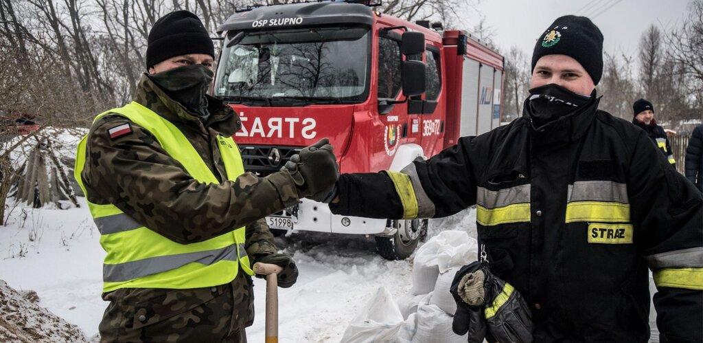 Działania WOT w przeciwdziałaniu podtopieniom w Płocku - aktualizacja na 11 lutego br.
