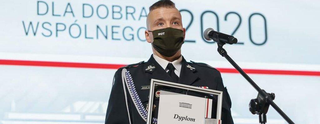 """""""Człowiek – lider"""" kpr. Jakub Wachnicki – laureat V Nagrody Prezydenta RP """"Dla Dobra Wspólnego"""""""