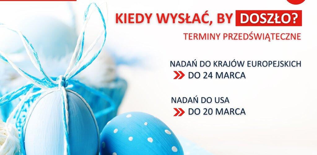 Poczta Polska zaprasza do nadawania przesyłek zagranicznych przed Świętami Wielkanocnymi