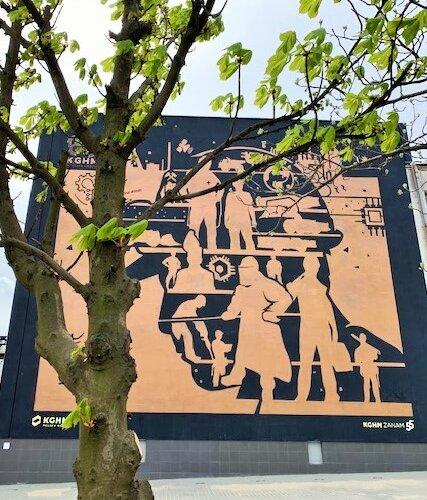 Pierwszy w Polsce miedziany mural – KGHM świętuje 60-lecie istnienia