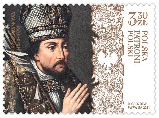Patron Polski na znaczku pocztowym