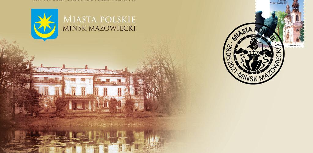 Znaczek z okazji 600. rocznicy nadania praw miejskich Mińskowi Mazowieckiemu