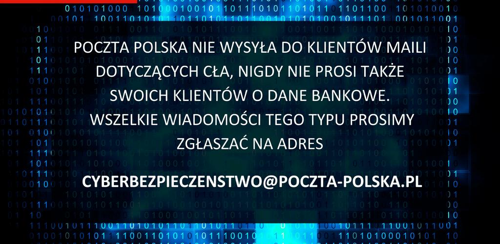 Poczta Polska: uwaga na groźne oszustwa phishingowe związane z obsługą celną przesyłek ze sklepów spoza Unii Europejskiej