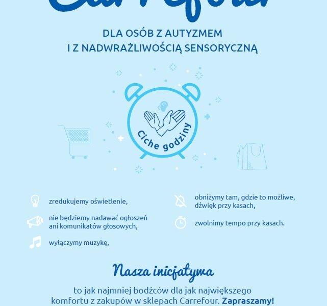 Carrefour zwiększa liczbę sklepów z cichymi godzinami i wprowadza pierwszeństwo obsługi dla osób z autyzmem