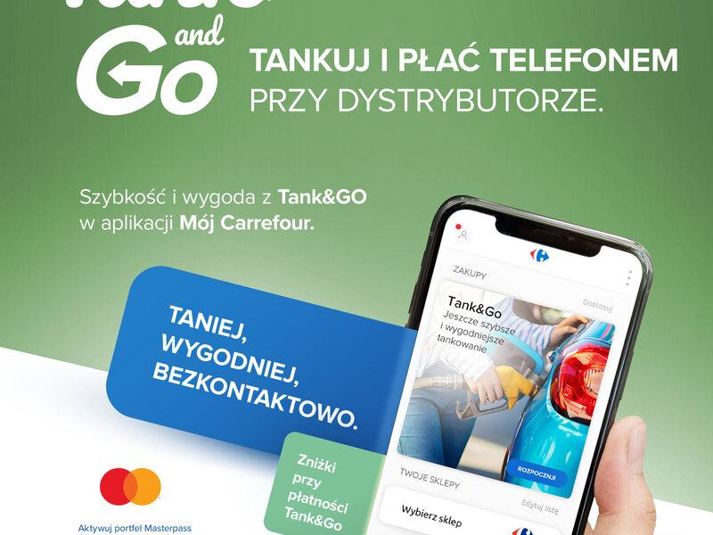 Płatność za paliwo bez kolejki do kasy - Carrefour rozszerza usługę Tank&Go