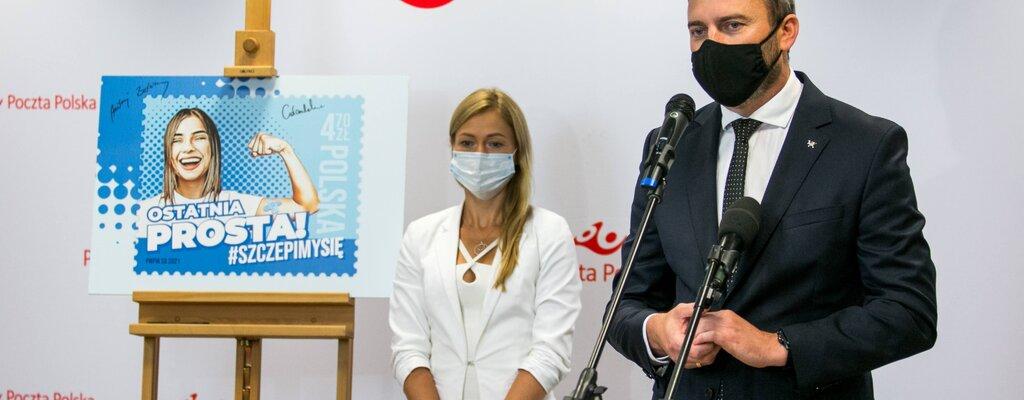 Poczta Polska nową emisją filatelistyczną włącza się w ogólnopolską kampanię #SZCZEPIMYSIĘ