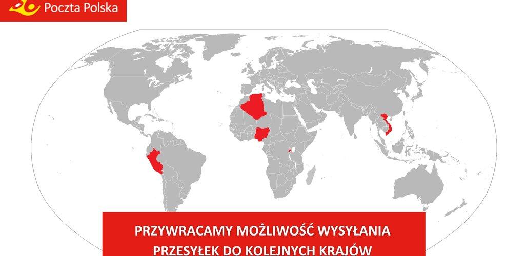 Przesyłki do Wietnamu w ofercie Poczty Polskiej. Operator rozszerza lub przywraca zakres usług do kolejnych krajów