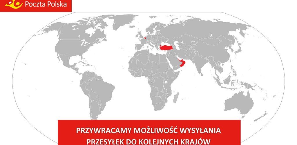 Poczta Polska: Rozszerzamy katalog usług świadczonych do kolejnych państw. Listy można wysyłać już do stu krajów