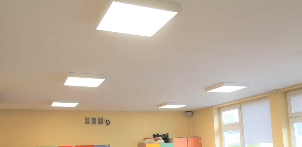 Gotowi na nowy rok szkolny - nowe oświetlenie w Szkole Podstawowej w Milejewie