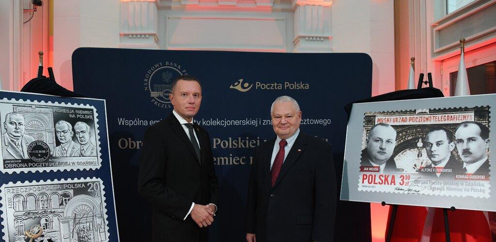 Poczta Polska i Narodowy Bank Polski oddają hołd Pocztowcom znaczkiem oraz monetą kolekcjonerską pod wspólną nazwą emisji
