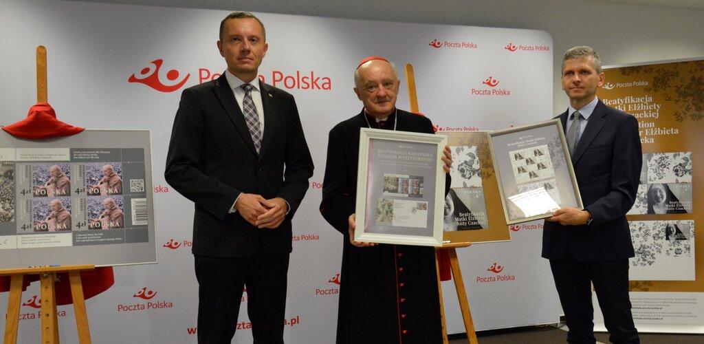 Nowe znaczki Poczty Polskiej upamiętniające beatyfikacje Prymasa Tysiąclecia oraz Matki Czackiej
