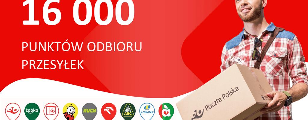 Już ponad 16 tys. punktów odbioru przesyłek Poczty Polskiej. Co 5 paczka odbierana jest w pocztowych punktach partnerskich