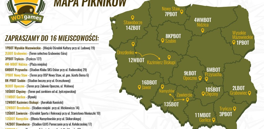 Już jutro WOTgames – sportowe pikniki w całej Polsce. Czekamy na Was