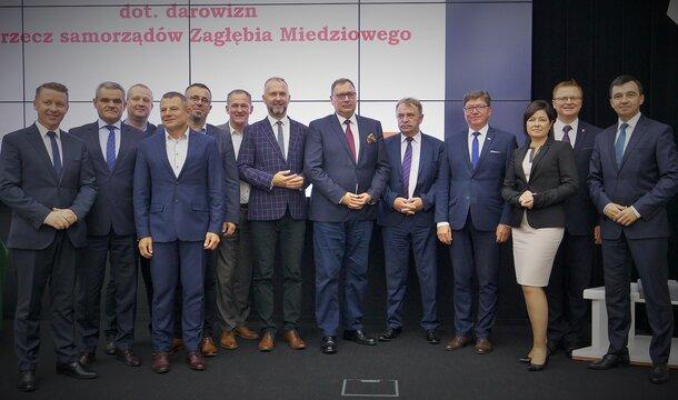 Más de 3 millones de zł de KGHM para los ayuntamientos de la Cuenca del Cobre