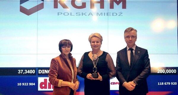 """Doceniają nas – KGHM z nagrodami za raport roczny i z """"Bursztynem Polskiej Gospodarki"""""""
