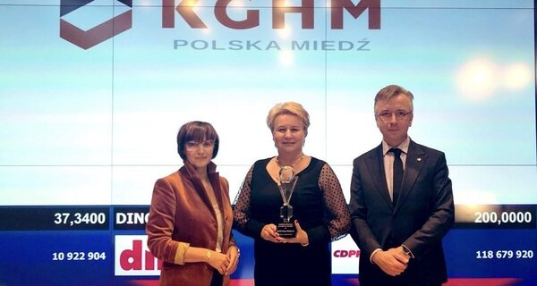 """We are appreciated - KGHM with awards for its annual report and with the """"Amber of the Polish Economy"""""""