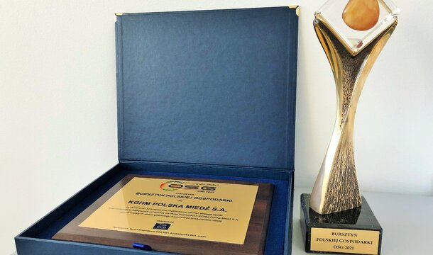 """KGHM awarded the """"Amber of the Polish Economy 2021″"""