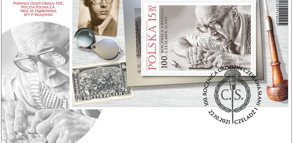 Walor poświęcony projektantowi znaczków
