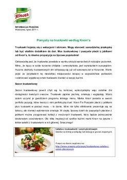 Pomysły na truskawki według Knorr'a