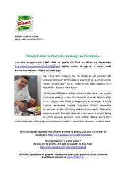 Porady kulinarne Piotra Murawskiego na Facebooku