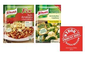 Produkt Roku 2014 dla marki Knorr - wyróżnienie dla Fix Knorr Rurki Arrabiata z kurczakiem oraz Sosów do warzyw na ciepło