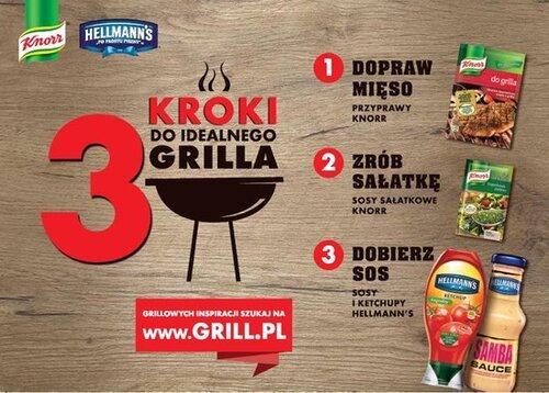 """Sezon na ruszcie! """"3 kroki do idealnego grilla"""" od marek Knorr i Hellmann's"""