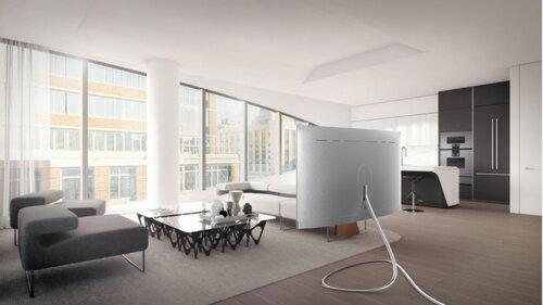 Niepowtarzalne stojaki do telewizorów QLED wyłonione w konkursie dla projektantów