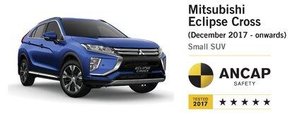 Maksymalna nota dla Mitsubishi Eclipse Cross w kolejnym teście zderzeniowym  - ANCAP