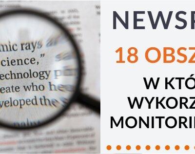 """Poradnik Newspoint """"18 obszarów w których wykorzystasz monitoring marki"""""""