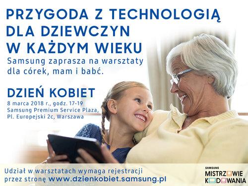 Nauka i zabawa z technologią – 8 marca zapraszamy na warsztaty dla dziewczyn w każdym wieku