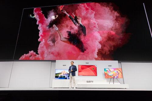 Samsung pokazał nowe telewizory QLED TV podczas premiery w Nowym Jorku