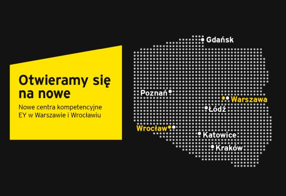 EY dynamicznie się rozwija i rozszerza swoje centra kompetencyjne w Polsce