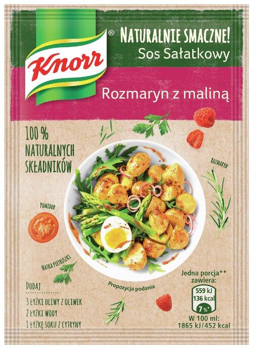 NOWE sosy sałatkowe Naturalnie smaczne! Knorr - Grecki z suszoną czerwoną papryką oraz Rozmaryn z maliną