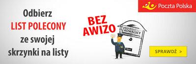 Poczta Polska na życzenie klienta dostarcza list polecony do skrzynki na listy