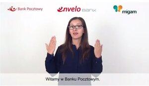 Tłumacz języka migowego online dostępny w Banku Pocztowym