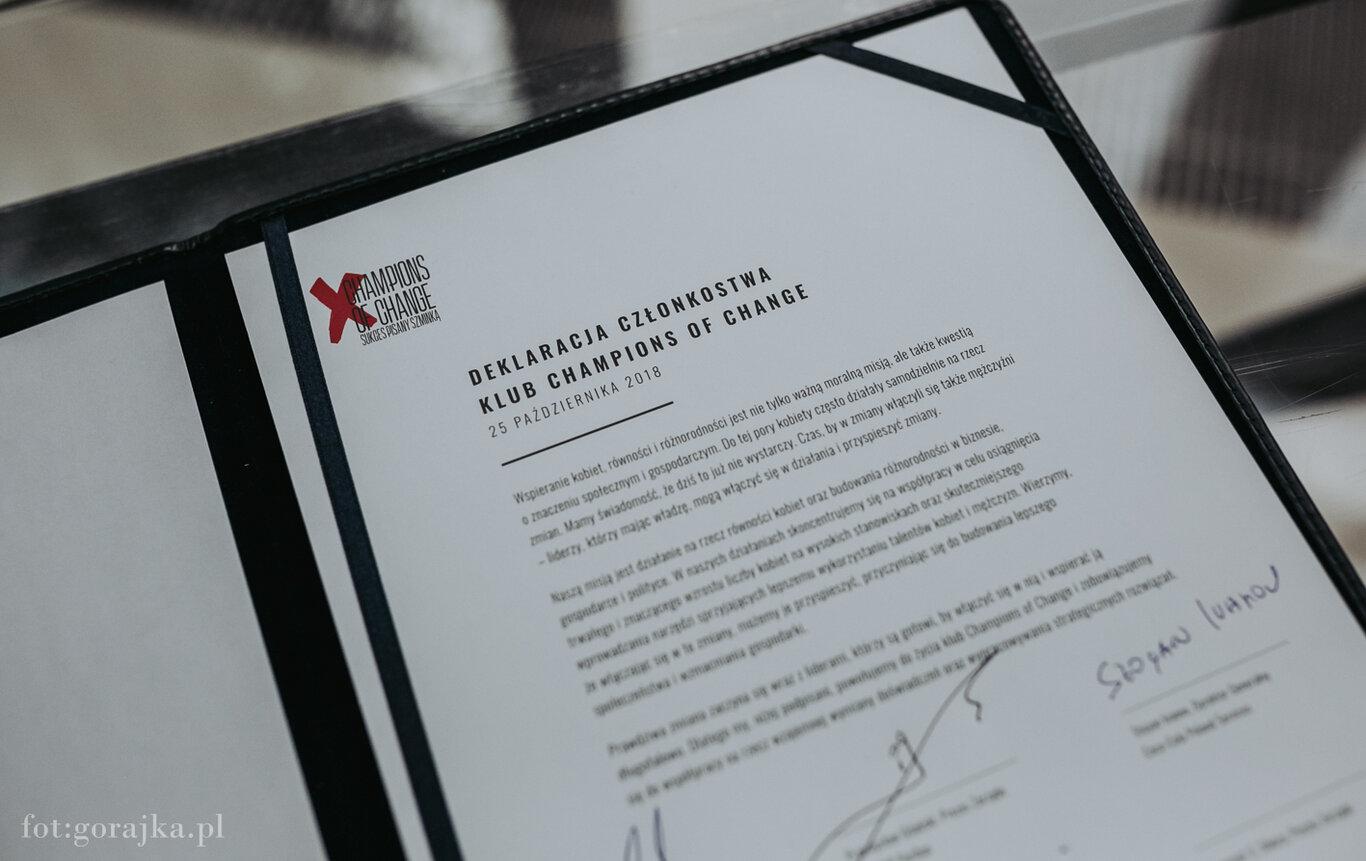 Powstał klub Champions of Change. To pierwsza taka organizacja w Polsce, działająca na rzecz wspierania kobiet i różnorodności w biznesie