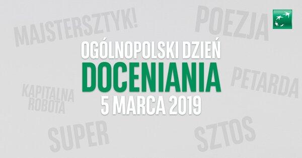 Bank BGŻ BNP Paribas ogłasza 5 marca Ogólnopolskim Dniem Doceniania