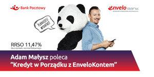 Adam Małysz w kampanii reklamowej Banku Pocztowego i EnveloBanku