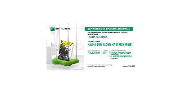 Bank BNP Paribas zaprasza na spotkanie z Anną Kamińską