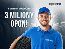 OPONEO.PL: rekordowa sprzedaż - trzy miliony sprzedanych opon w 2019 roku w Polsce